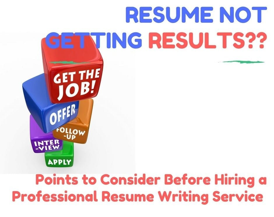 Write a professional resume not writing services