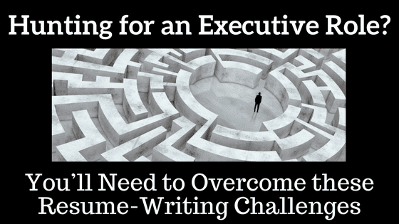 Resume writing consultant discusses the 3 biggest challenges executives and aspiring executives face writing their resumes.